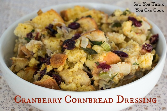 Cranberry Cornbread Dressing for #CranberryWeek from Sew You Think You Can Cook
