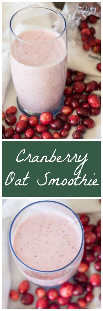 Cranberry Oat Smoothie for #CranberryWeek from Sew You Think You Can Cook
