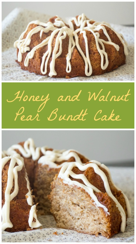 Honey and Walnut Pear Bundt Cake for #BundtBakers from Sew You Think You Can Cook