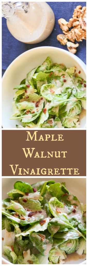Maple Walnut Vinaigrette | Sew You Think You Can Cook | http://sewyouthinkyoucancook.com