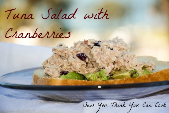 Tuna Salad with Cranberries for #CranberryWeek from Sew You Think You Can Cook