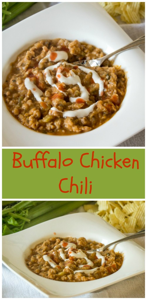 Buffalo Chicken Chili | Sew You Think You Can Cook | http://sewyouthinkyoucancook.com