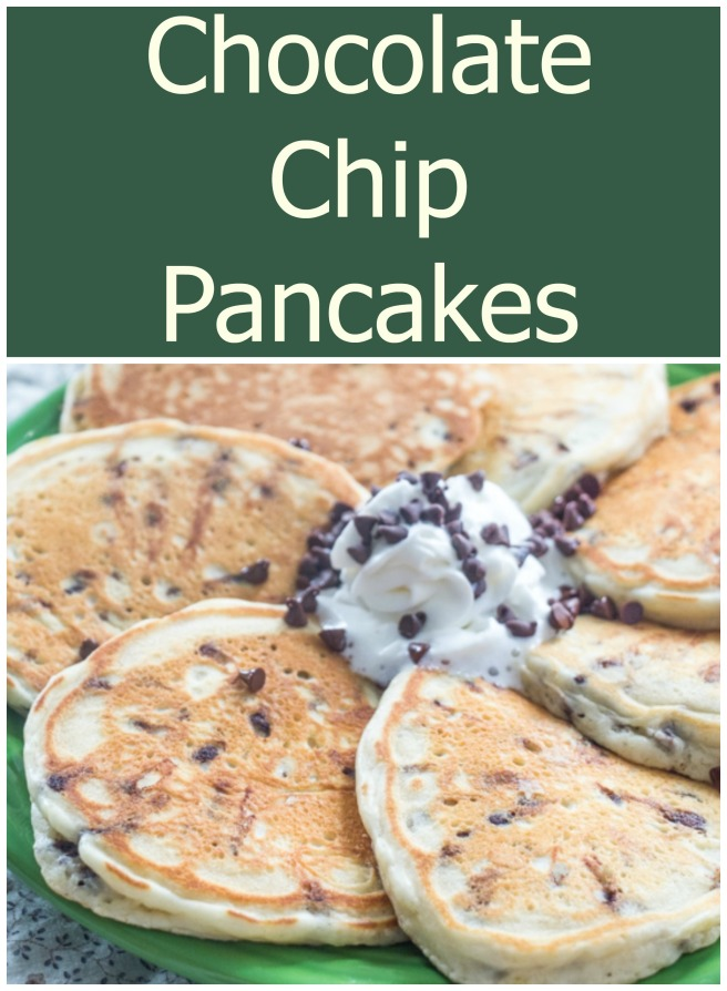 Chocolate Chip Pancakes | Sew You Think You Can Cook | http://sewyouthinkyoucancook.com