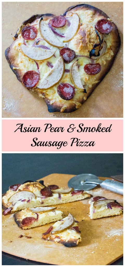 Asian Pear and Smoked Sausage Pizza | Sew You Think You Can Cook | http://sewyouthinkyoucancook.com
