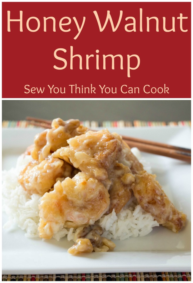 Honey Walnut Shrimp for Food Bloggers Recipe Swap from Sew You Think You Can Cook