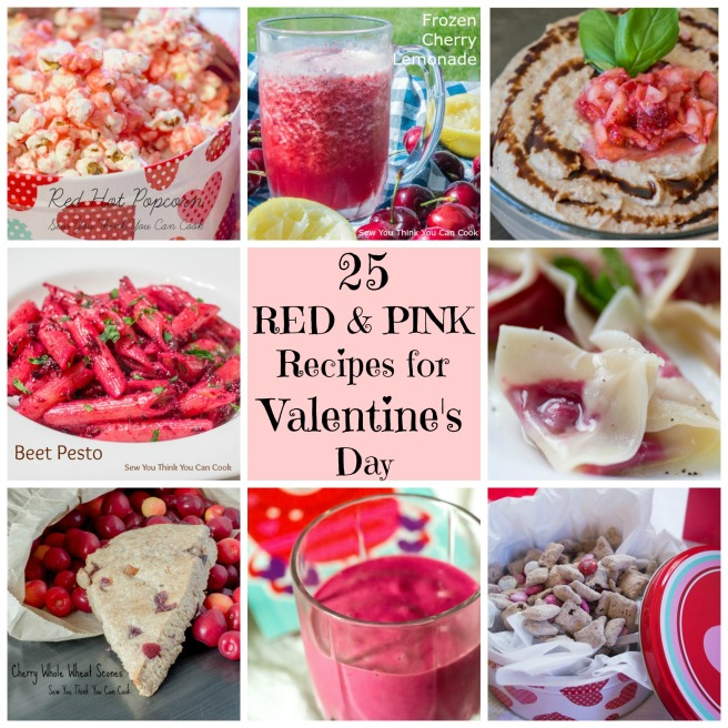 25 Red & Pink Recipes for Valentine's Day | http://sewyouthinkyoucancook.com