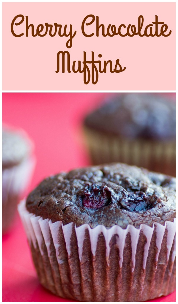 Cherry Chocolate Muffins for #MuffinMonday from Sew You Think You Can Cook