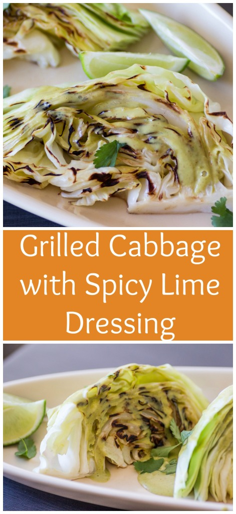 Grilled Cabbage with Spicy Lime Dressing for #SundaySupper from Sew You Think You Can Cook