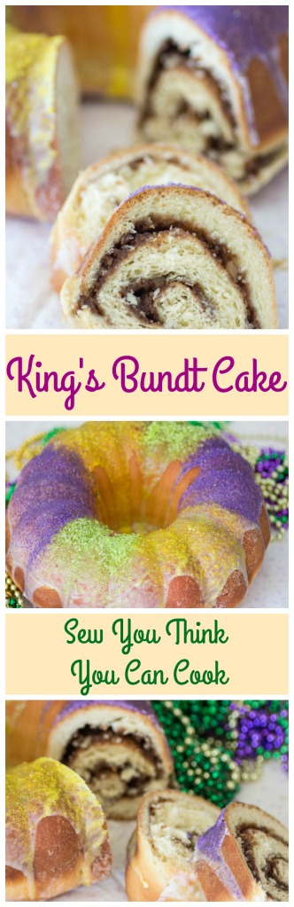 King's Bundt Cake for #BundtBakers from Sew You Think You Can Cook