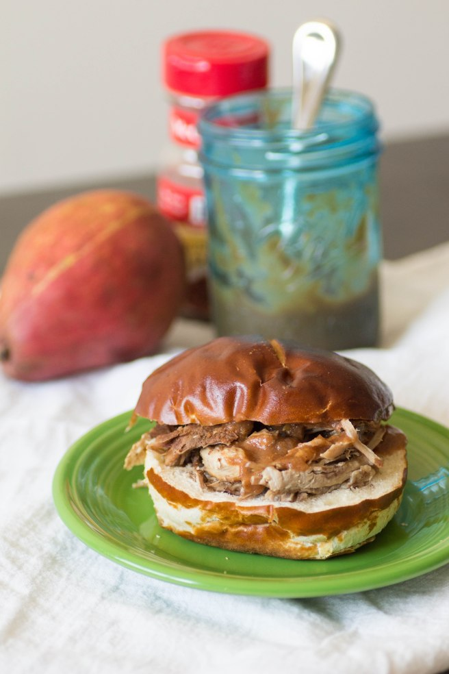 Pear Barbecue Pulled Pork Sandwich | Sew You Think You Can Cook | http://sewyouthinkyoucancook.com