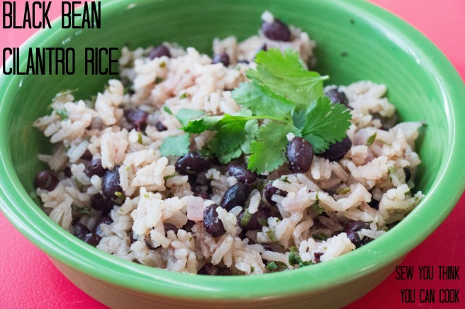 Black Bean Cilantro Rice for #SundaySupper from Sew You Think You Can Cook