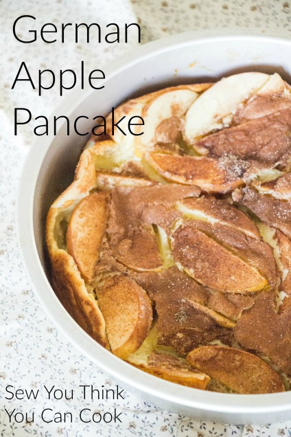 German Apple Pancake for #BrunchWeek from Sew You Think You Can Cook