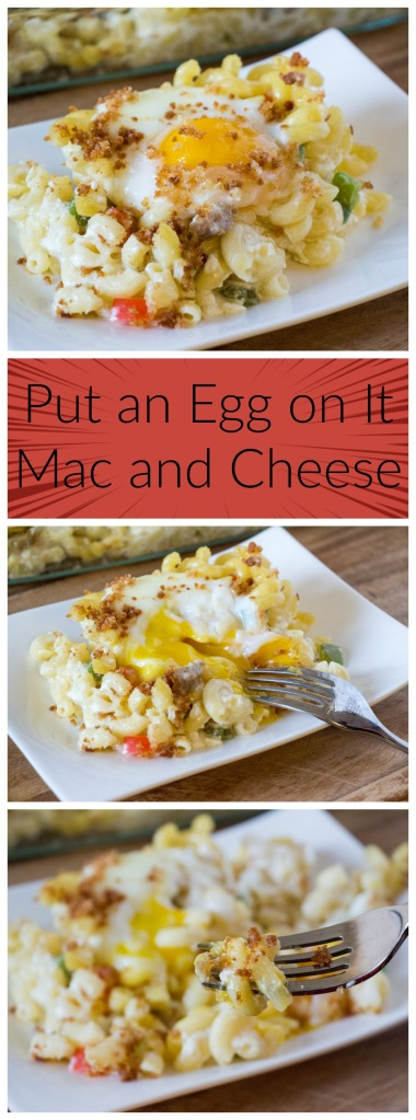 Put an Egg on it Mac and Cheese for #BrunchWeek from Sew You Think You Can Cook