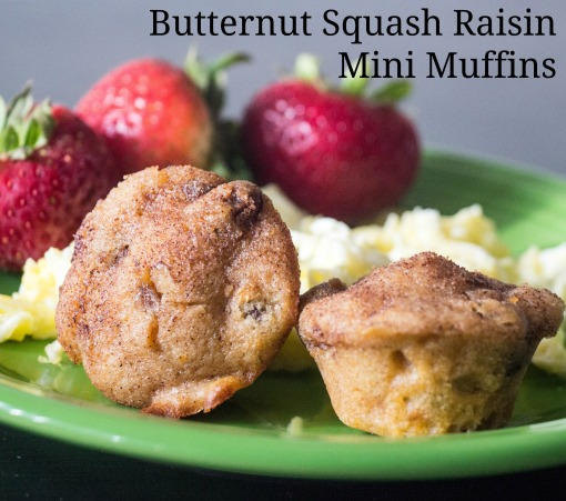 Butternut Squash Raisin Mini Muffins for #MuffinMonday from Sew You Think You Can Cook