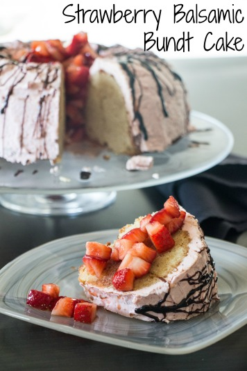 Strawberry Balsamic Bundt Cake for #BundtBakers from Sew You Think You Can Cook
