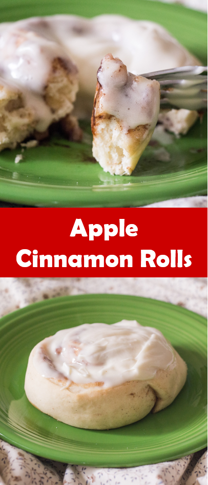Apple Cinnamon Rolls for #AppleWeek from Sew You Think You Can Cook