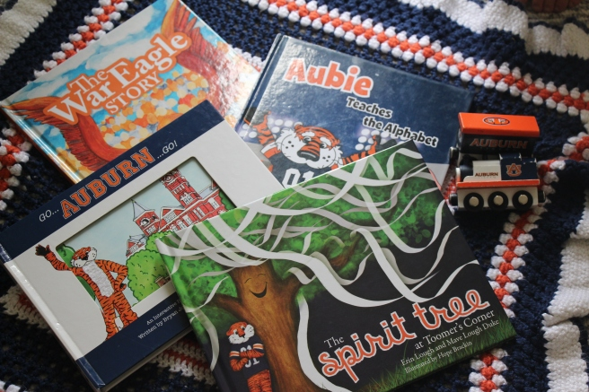 Books for a little Tiger #WarEagle #Auburn | Sew You Think You Can Cook | http://sewyouthinkyoucancook.com