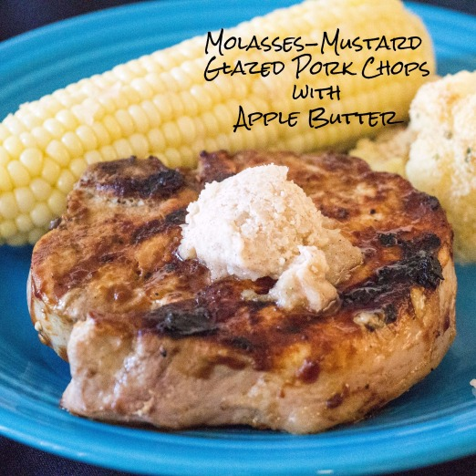 Molasses-Mustard Glazed Pork Chops with Apple Butter for #AppleWeek from Sew You Think You Can Cook