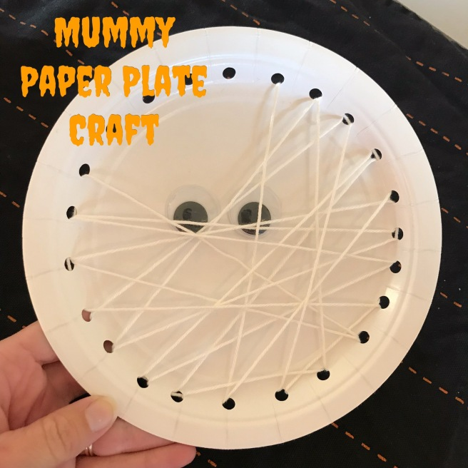 Mummy Paper Plate Kids Craft | Sew You Think You Can Cook