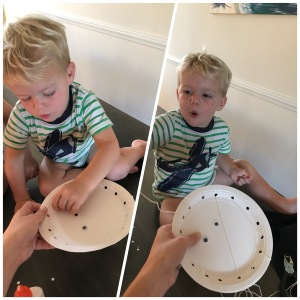 Mummy Paper Plate Craft (baby)