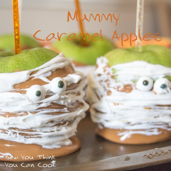 Mummy Caramel Apples | Sew You Think You Can Cook