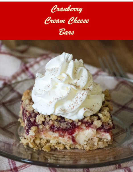 Cranberry Cream Cheese Bars for #CranberryWeek from Sew You Think You Can Cook