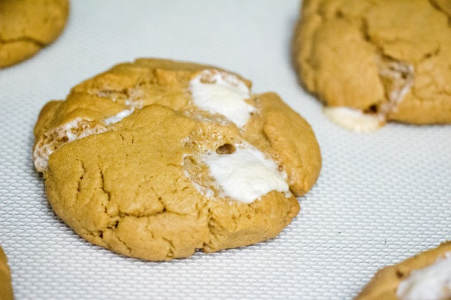 Marshmallow Peanut Butter Cookies for #NationalPeanutButterDay from Sew You Think You Can Cook | http://sewyouthinkyoucancook.com