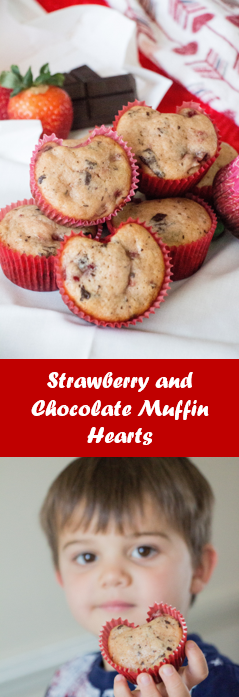 Strawberry and Chocolate Muffin Hearts for #MuffinMonday from Sew You Think You Can Cook